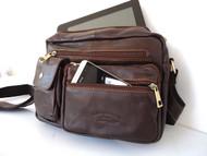 Genuine real Leather Bag ipad air mini new 2 3 man woman cross body tablet ebook