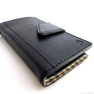 genuine 100% leather Case for Samsung Galaxy S4 s 4 book wallet handmade skin slim