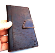 genuine vintage leather Case For Samsung Galaxy Note II 2 book wallet handmade free shipping