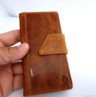 genuine leather case for iphone 4s cover purse pouch s 4 book wallet belt close b