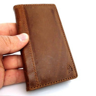 genuine vintage 100% leather slim case for iphone 5c 5 c 5s cover book wallet handmade s R