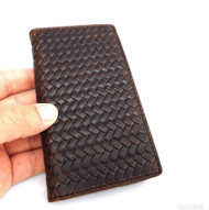 genuine vintage leather Case for Samsung Galaxy Note 3 book wallet brown wine G