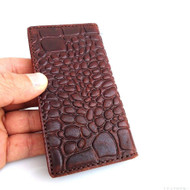 genuine FULL leather case for iphone 5 s book wallet holder 5s crocodile Model N