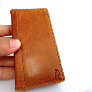 genuine leather case FIT for iphone 5 5s book wallet cover handmade cards slim S