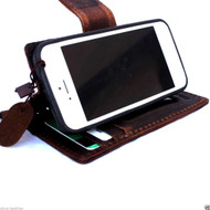 genuine real leather case for iphone 5 c SE cover book wallet creditcard 5c id new