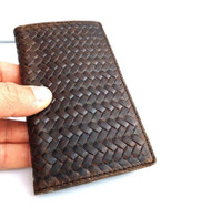 genuine vintage leather Case for Samsung Galaxy S4 SIII book wallet handmade new