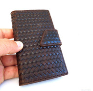 genuine vintage leather Case fit Samsung Galaxy S4 SIII book wallet handmade 70s