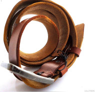 Genuine buffalo Leather belt 43mm men womens Waist handmade classic size  XXLretro