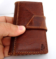 genuine real leather case for iphone 4s cover s 4 book wallet stand handmade itR