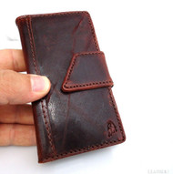 genuine vintage leather pro case for iphone 4 book wallet cover new handmade cards skin uk
