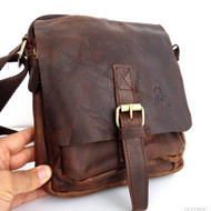 Genuine full Vintage Leather Shoulder Bag Messenger man tablet cross russia