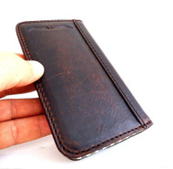genuine real leather vintage Case for HTC ONE m7book wallet handmade skin TA