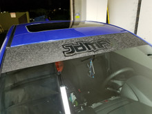 JDMFV Top Windshield Banner - Shadow Black