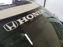 "Large Honda banner  (4"" x 36"")- DECAL"