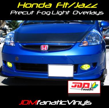 2007 2008 Honda Fit Jazz Preuct Yellow Fog Light Overlays Tint