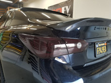 Smoked Tail Light Overlays with Reverse Cutout (14-18 Q50)