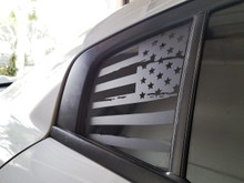 Distressed American Flag Quarter Window Decal (15-18 Charger)