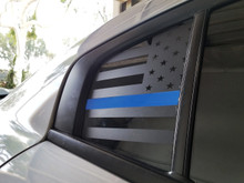 Thin Blue Line American Flag Quarter Window Decal (15-18 Charger)