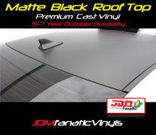 Matte/Flat Black Roof Top Overlay - Universal Kit
