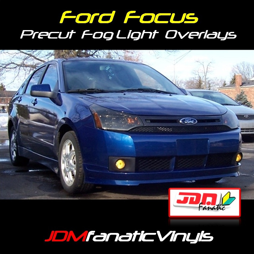 08: 08-11 Ford Focus Precut Yellow Fog Light Overlays Tint