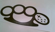 Brass Knuckles w/ Stars Decal/Sticker