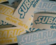 Drive Fresh & Drive Dirty Decal/Sticker