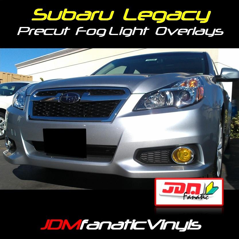 2013 Subaru Legacy Precut Yellow Fog Light Overlays Tint