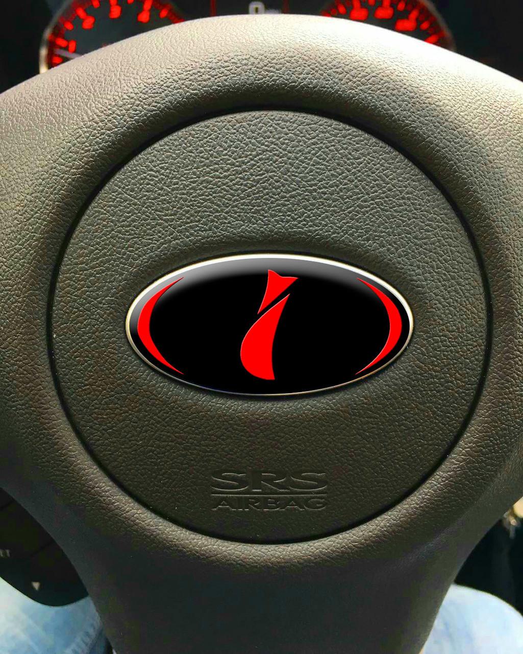 Domed Steering Wheel Badges Stars Jdmfv Fanatic Wraps