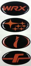 ORANGE COLLECTION - DOMED  Steering Wheel Badges