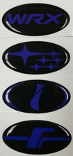 BLUE COLLECTION - DOMED Steering Wheel Badges
