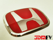 JDM Honda H Steering Wheel Emblem (RED)