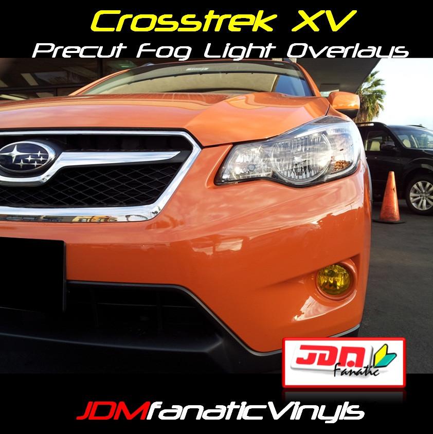 2013 Subaru XV Crosstrek Precut Yellow Fog Light Overlays Tint