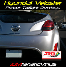 12-16 Hyundai Veloster Precut Smoked Reverse/Blinker Tail Light Overlays Tint