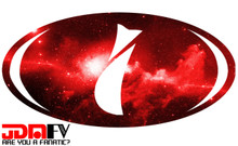 RED GALAXY - Precut Emblem Overlays Front/Rear (12-16 Impreza 2.0i)