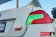 2015-2017 Subaru WRX STi SEDAN Precut NEO CHROME Blinker/Reverse Tail Light Overlays Tint