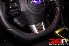 Precut Steering Wheel Trim w/ Logo (15-17 WRX)