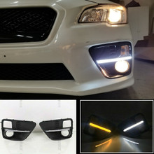 SWITCHBACKS - Gloss Black Fog Light Bezels - JDM S4 Style DRL  (2015-2017 WRX/STI)