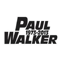 PAUL WALKER - DECAL