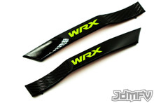 WRX Fender Badge Garnish - Gloss Black / Neon Yellow (2008-2014 WRX)