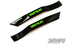 WRX Fender Badge Garnish - Gloss Black / Green (2008-2014 WRX)