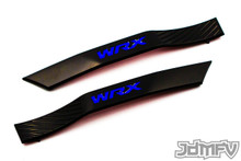 WRX Fender Badge Garnish - Satin Black / Blue (2008-2014 WRX)