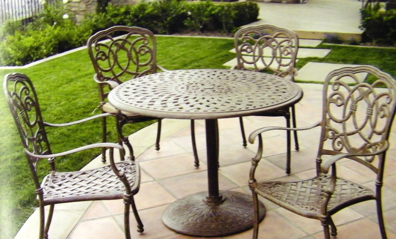 darlee florence patio furniture dining set with pedestal