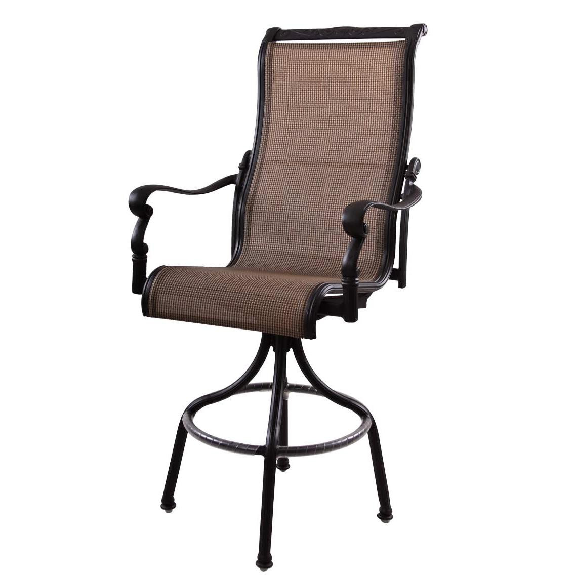 darlee monterey patio furniture swivel bar stool antique