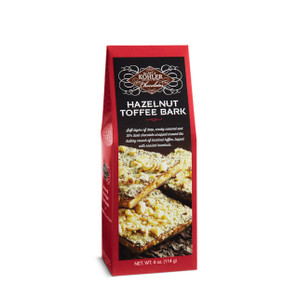HAZELNUT TOFFEE BARK Four Ounces