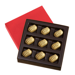 GOLDEN HOLIDAY CARAMELS Nine Pieces