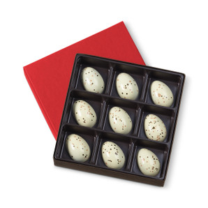 Hand-painted dark chocolate shell filled with a perfectly balanced, bittersweet cognac ganache.