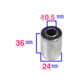 Metal and Rubber Bushing OD 24mm ID 10.5mm LENGTH 36mm