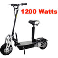 Super Turbo 1200 watt Chrome Electric Scooter 34mph - SALE BUY HERE ONLINE
