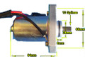 (#06) Starter - Chinese 2-Stroke 50cc Engines ETON Starter motor ATV