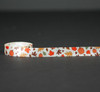 "Fall leaves and pumpkins on 5/8"" Antique white single face satin ribbon, 10 yards"